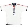 2003-05 England Umbro Home Shirt Beckham #7 *Mint* XL