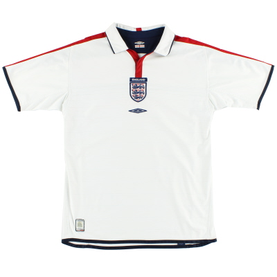 2003-05 England Home Shirt L
