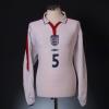 2003-05 England Home Shirt 'Portugal v England' Ferdinand #5 L/S XL