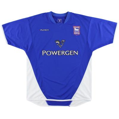 2003-05 Ipswich Punch Home Shirt *Mint* L
