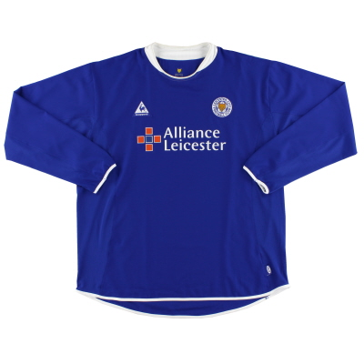 2003-05 Leicester Home Shirt L/S *Mint* XXL