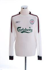 2003-05 Liverpool Away Shirt #2 L/S M