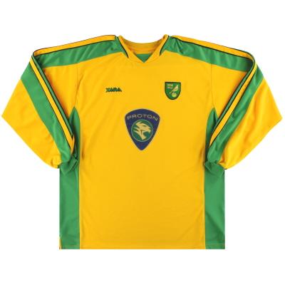 2003-05 Norwich City Home Shirt L/S XL