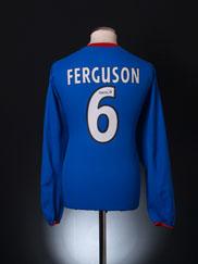 2003-05 Rangers Home Shirt Ferguson #6 L/S XL