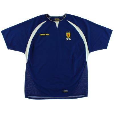 2003-05 Scotland Home Shirt L