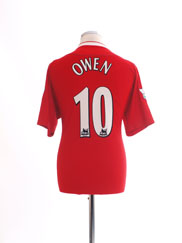 2003 Liverpool 'Worthington Cup' Home Shirt Owen #10 *Mint* M