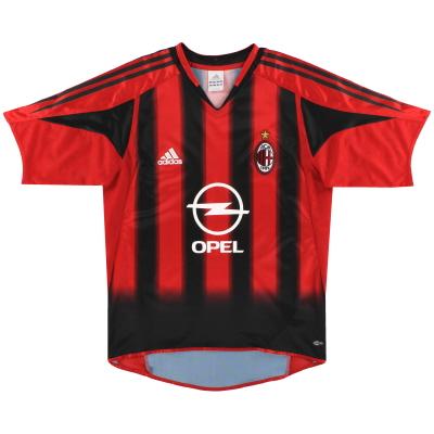 2004-05 AC Milan adidas Home Shirt L