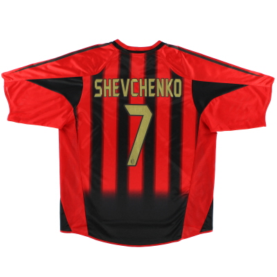 2004-05 AC Milan adidas Home Shirt Shevchenko #7 S