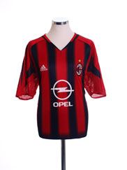 2004-05 AC Milan Home Shirt S