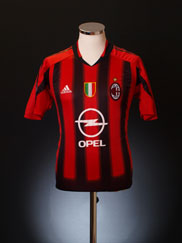 2004-05 AC Milan Home Shirt XL