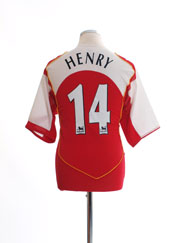 2004-05 Arsenal Home Shirt Henry #14 *Mint* L