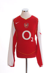2004-05 Arsenal Home Shirt L/S L