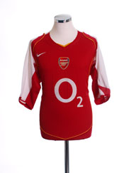 2004-05 Arsenal Home Shirt L.Boys