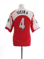 2004-05 Arsenal Home Shirt Vieira #4 M