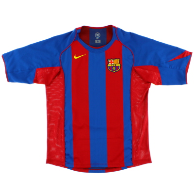 2004-05 Barcelona Home Shirt Larsson #17 XL