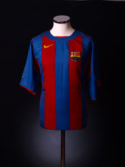 2004-05 Barcelona Home Shirt XL