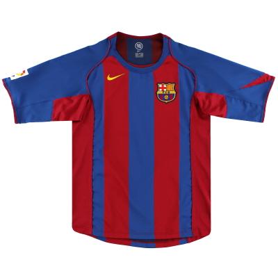 2004-05 Barcelona Nike Home Shirt L
