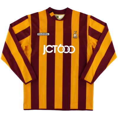 2004-05 Bradford City Diadora Home Shirt L/S M