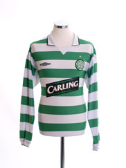 2004-05 Celtic Home Shirt L/S *Mint* L