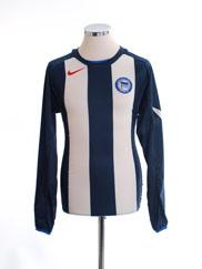 2004-05 Hertha Berlin Home Shirt L/S M