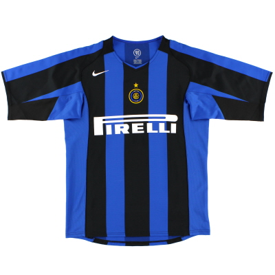 2004-05 Inter Milan Nike Home Shirt L.Boys