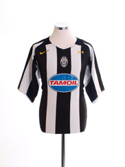 2004-05 Juventus Champions League Home Shirt L