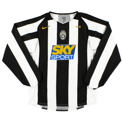 2004-05 Juventus Home Shirt L/S M