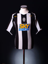 2004-05 Juventus Home Shirt S