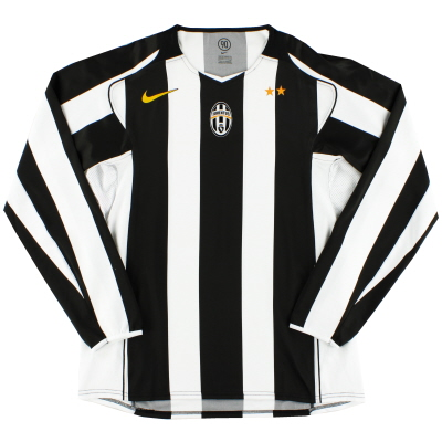 2004-05 Juventus Player Issue Home Shirt L/S XXL