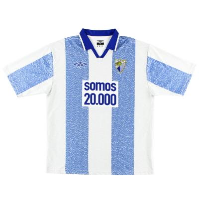 2004-05 Malaga Umbro 'Somos 20.000' Home Shirt XL