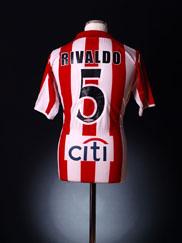 2004-05 Olympiakos Home Shirt Rivaldo #5 L