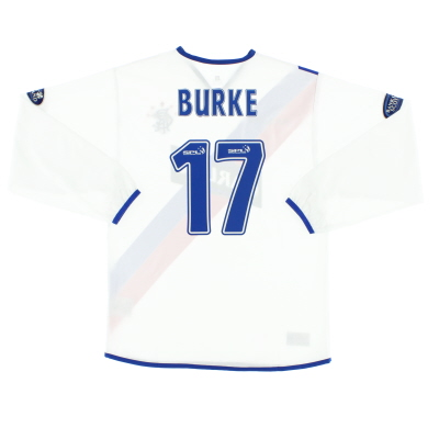 2004-05 Rangers Away Shirt Burke #17 L/S M