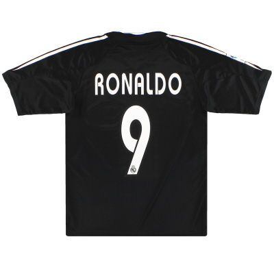 2004-05 Real Madrid adidas Away Shirt Ronaldo #9 S