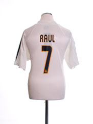 2004-05 Real Madrid Home Shirt Raul #7 M