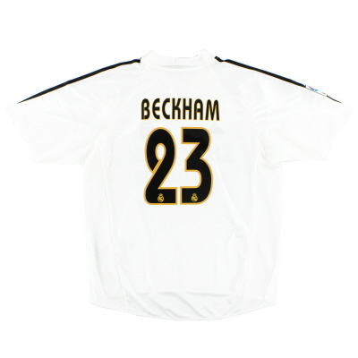 2004-05 Real Madrid Home Shirt Beckham #23 XL