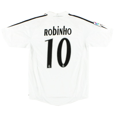 2004-05 Real Madrid adidas Home Shirt Robinho #10 S