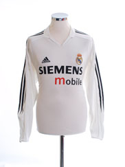 2004-05 Real Madrid Home Shirt L/S M