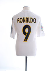 2004-05 Real Madrid Home Shirt Ronaldo #9 XL