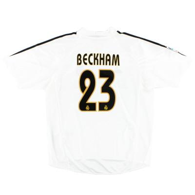 2004-05 Real Madrid Home Shirt Beckham #23 L
