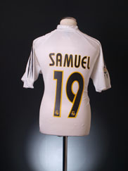 2004-05 Real Madrid Home Shirt Samuel #19 L