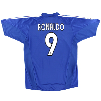2004-05 Real Madrid Third Shirt Ronaldo #9 XL