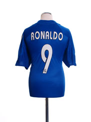2004-05 Real Madrid Third Shirt Ronaldo #9 L