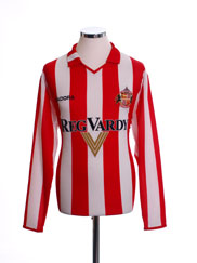 2004-05 Sunderland Home Shirt L/S M