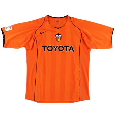 2004-05 Valencia Away Shirt *Mint* XL