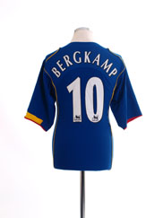 2004-06 Arsenal Away Shirt Bergkamp #10 L