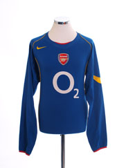 2004-06 Arsenal Away Shirt L/S L