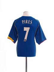 2004-06 Arsenal Away Shirt Pires #7 L