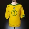 2004-06 Brazil Home Shirt Adriano #7 XL