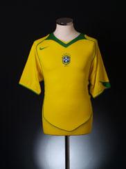2004-06 Brazil Home Shirt XL