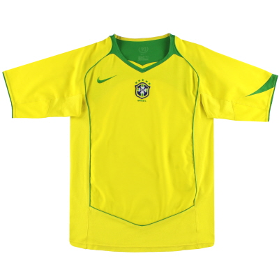 2004-06 Brazil Nike Home Shirt M